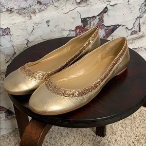 Gianni Bini gold flats 8